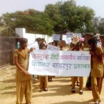 awareness march on child marriage, Bahaduour Alahabad
